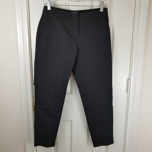 H&M Black Ankle Dress Pants Sz 4 Pocket Flat Front